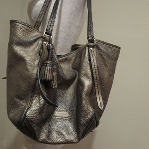 Burberry metallic gradient pebbled leather purse
